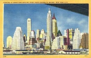 Downtown Skyline - New York City, New York