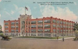 Lewis & Clark High School Spokane Washington Curteich