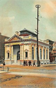 COHOES NY-COHOES SAVINGS INSTITUTION BANK~P J SHEA PUBL TINTED PHOTO POSTCARD