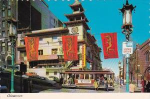 Grant Avenue At Cailfornia Street The Heart Of San Francisco Chinatown San Fr...