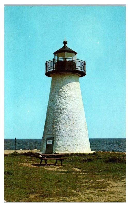 1966 Angelica Point Light, Mattapoisett, MA Postcard