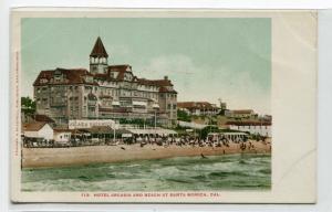 Hotel Arcadia Beach at Santa Monica California 1907c postcard