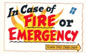Humor - In Case of Fire or Emergency - Turn This Card Over