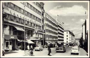 finland, JYVÄSKYLÄ, Kauppakatu, Car Hotel (1950s) RPPC