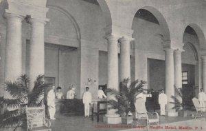 MANILA, Philippine Islands, 1900-10s, General Office and Lobby, Manila Hotel