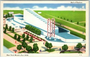 1939 New York World's Fair Postcard HALL OF FASHION Grinnell Litho Unused