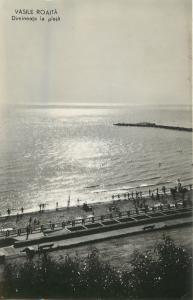 Romania morning on the beach Vasile Roata resort Black Sea 1960s