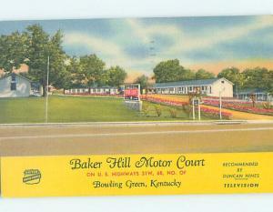 Linen MOTEL SCENE Bowling Green Kentucky KY hk2103