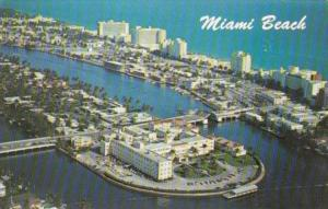 Florida Miami Beach Aerial View North Beach Showing Hotel Row and St Francis ...