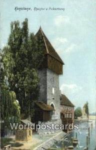 Konstanz Germany, Deutschland Postcard Rheinfor u Pulverturm Konstanz Rheinfo...