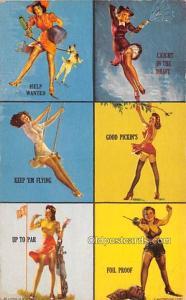 Help Wanted, Keep Em Flying 1945 Mutoscope Artist Pin Up Girl, Non Postcard B...