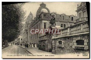 Old Postcard Evian Les Bains L & # 39Etablissement Thermal Baths D & # 39Evian