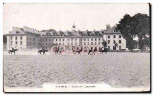 Postcard Old Saumur Ecole De Calvalerie Horse Militaria