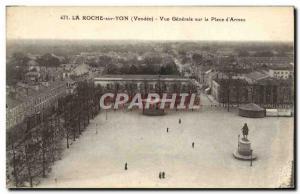 Old Postcard La Roche sur Yon Vue Generale on the Place d & # 39Armes