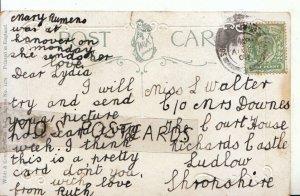 Genealogy Postcard - Walter - Richards Castle - Ludlow - Shropshire - Ref 200B