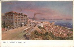 Naples Napoli Hotel Bristol c1910 Postcard EXC COND