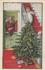 CHRISTMAS, 1915 ; Santa Claus leaving