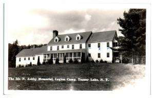 RPPC Ashby Memorial Legion Camp, Tupper Lake, NY Real Photo Postcard *5H7