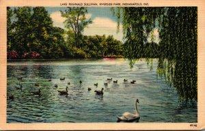 Indiana Indianapolis Riverside Park Lake Reginald Sullivan 1954