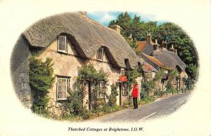 uk11062 thatched cottages at brighstone isle of wight uk