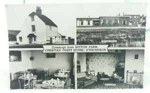 Vintage Rp Multiview Postcard Sutton Farm Christian Guest House Dymchurch