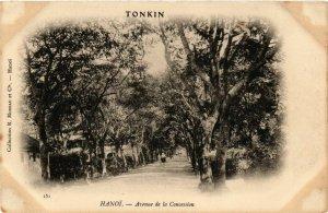 CPA AK INDOCHINA Hanoi Avenue de la Concession VIETNAM (957406)