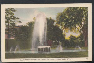 Canada Postcard - Illuminated Fountain at Filtration Park, Peterborough  RS16358