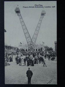 London FRANCO BRITISH EXHIBITION The FLIP FLAP c1908 Official Postcard