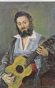 Jewish Man With A Guitar, Folksinger, 1970