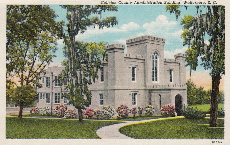WALTERBORO , South Carolina , 1930-40s ; County Admin Bldg