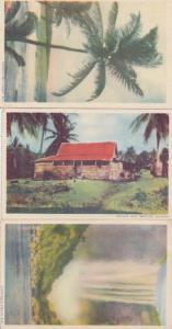 British Guiana Guyana Old Colour Native Indian Hut 3x Postcard