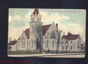 WINDSOR MISSOURI METHODIST EPISCOPAL CHURCH ANTIQUE VINTAGE POSTCARD MO.
