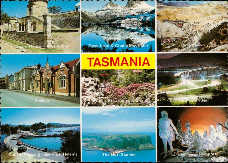 Tasmania Australia's Island State multi view Zeehan The Nut Stanley Queenstown