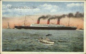 New York City - Steamship SS Berengaria 1930 Used Postcard