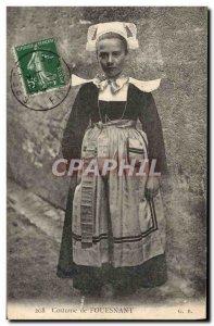 Postcard Old Folk Costume Fouesnant