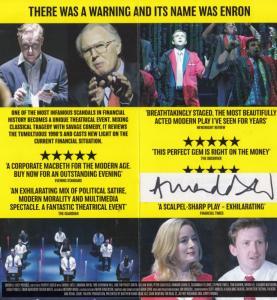 Enron Amanda Drew Political Thriller Noel Coward Hand Signed Theatre Flyer