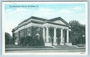 Postcard LA De Ridder First Methodist Church Vintage K17