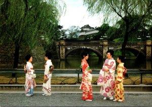 Japan Nijubashi Double-Bridge At Imperial Palace