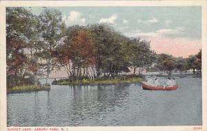 Boating, Sunset Lake, ASBURY PARK, New Jersey, 1910-1920s