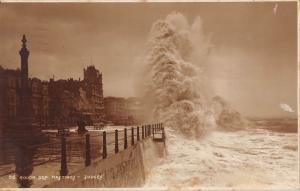 BR68431 rough sea hastings   uk  judges 86 real photo
