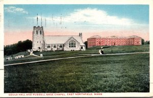 Massachusetts East Northfield Gould Hall and Russell Sage Chapel 1916