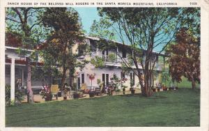 Will Rogers Ranch House , Santa Monica Mts , California , PU-1936