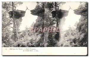 Stereoscopic map - USA - North America - Dalls Winsconsin - The Stand Rock - ...