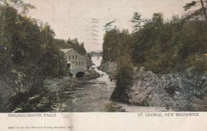 Magaguadavic Falls - St George NB, New Brunswick, Canada - pm 1906
