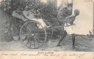 Ceylon Sri Lanka Cruelty to animals, rickshaw