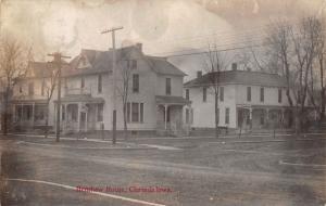 Clarinda Iowa~Henshaw House~Boarding House Hotel~Victorian Homes~1909 RPPC