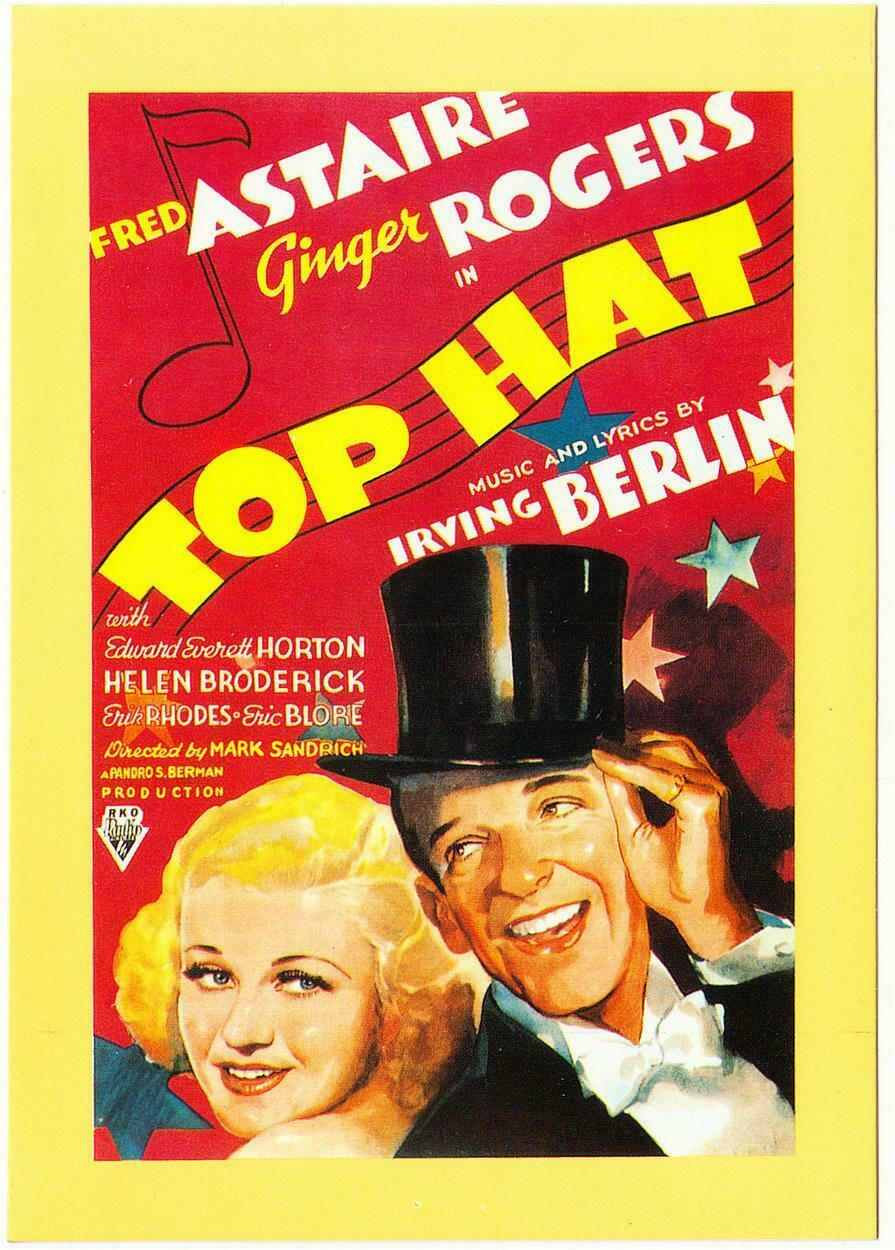 Postcard Of Top Hat Fred Astaire Ginger Rogers Movie Hippostcard