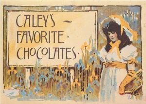 Alfred Munnings Caley`s Favorite Chocolate Creams Label advertising postcard
