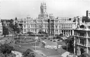 BR38302 Madrid piaza de la cibeles y palacio e comunicaciones spain