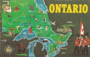Map, Ontario,  Canada,   40-60s